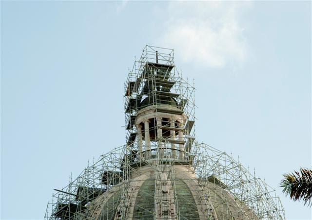 Capitolio en restauración / Foto Alexis Rodríguez