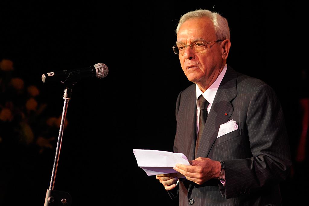 Eusebio Leal en la Gala de reapertura del Teatro Martí / Foto Néstor Martí